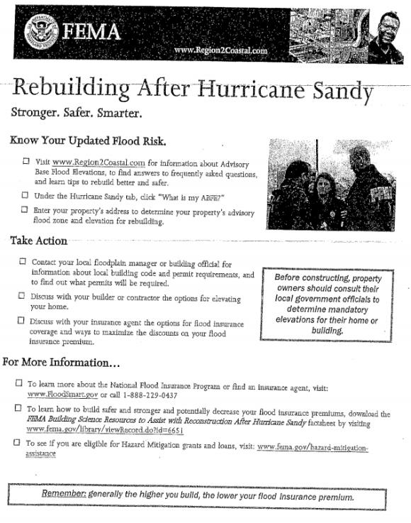rebuilding after hurricane Sandy